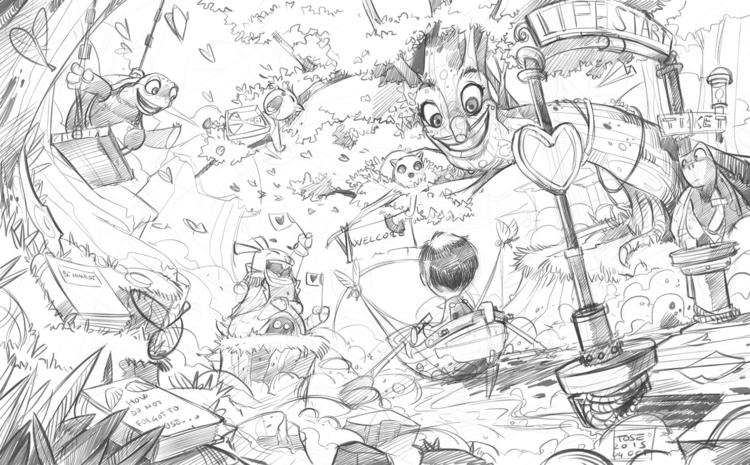 illustration, animation, painting - tombino | ello