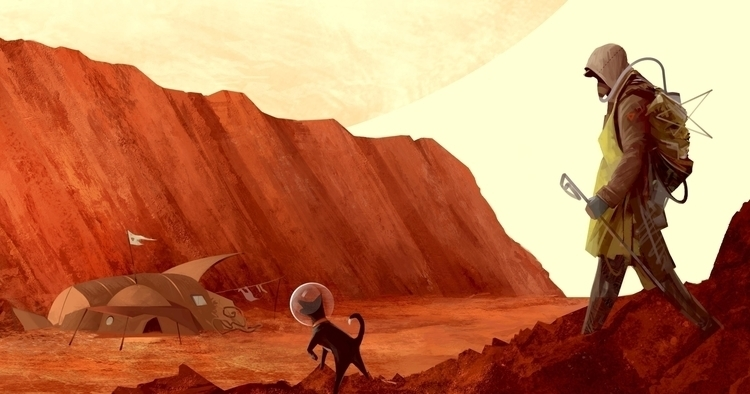 Mars - mars, dog, takingawalk, spacehobo - ricardcendra | ello
