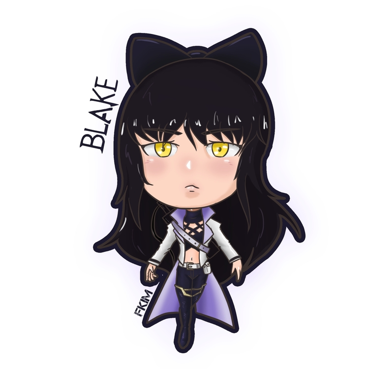 Chibi Blake - illustration, characterdesign - fkim90 | ello