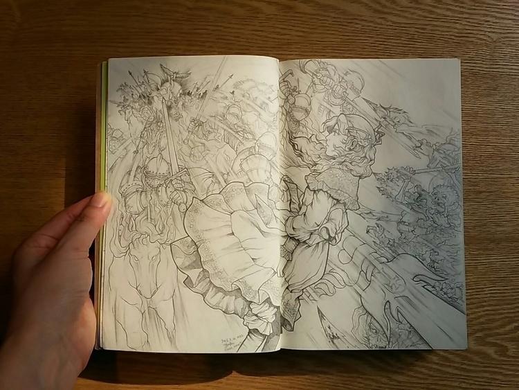 Concept scene sketch 2-1 - fantasy - 4oclockvoyage | ello
