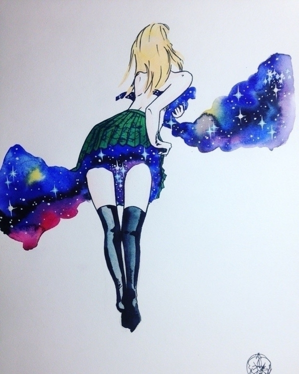 space skirt ? ??? ????? -  - illustration - annakado | ello