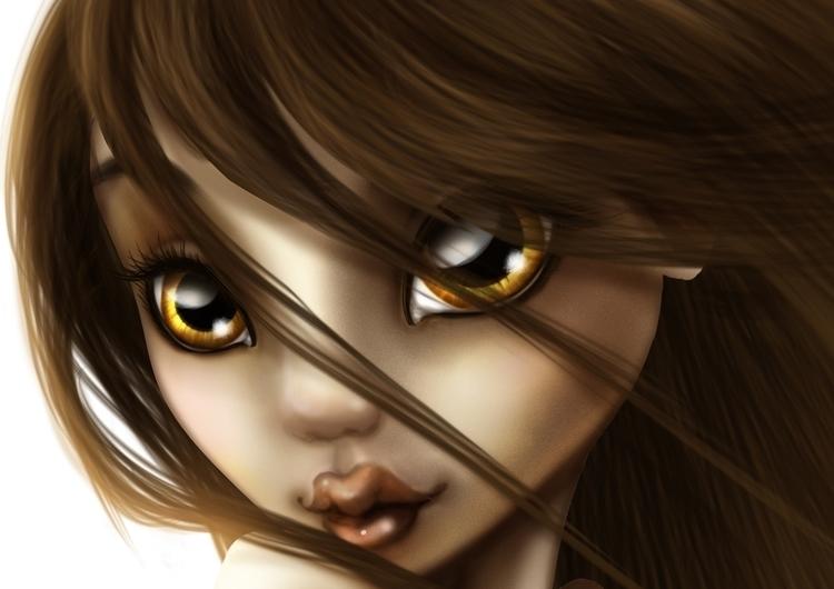 pin girl 02 -face detail - details - tenenbris | ello