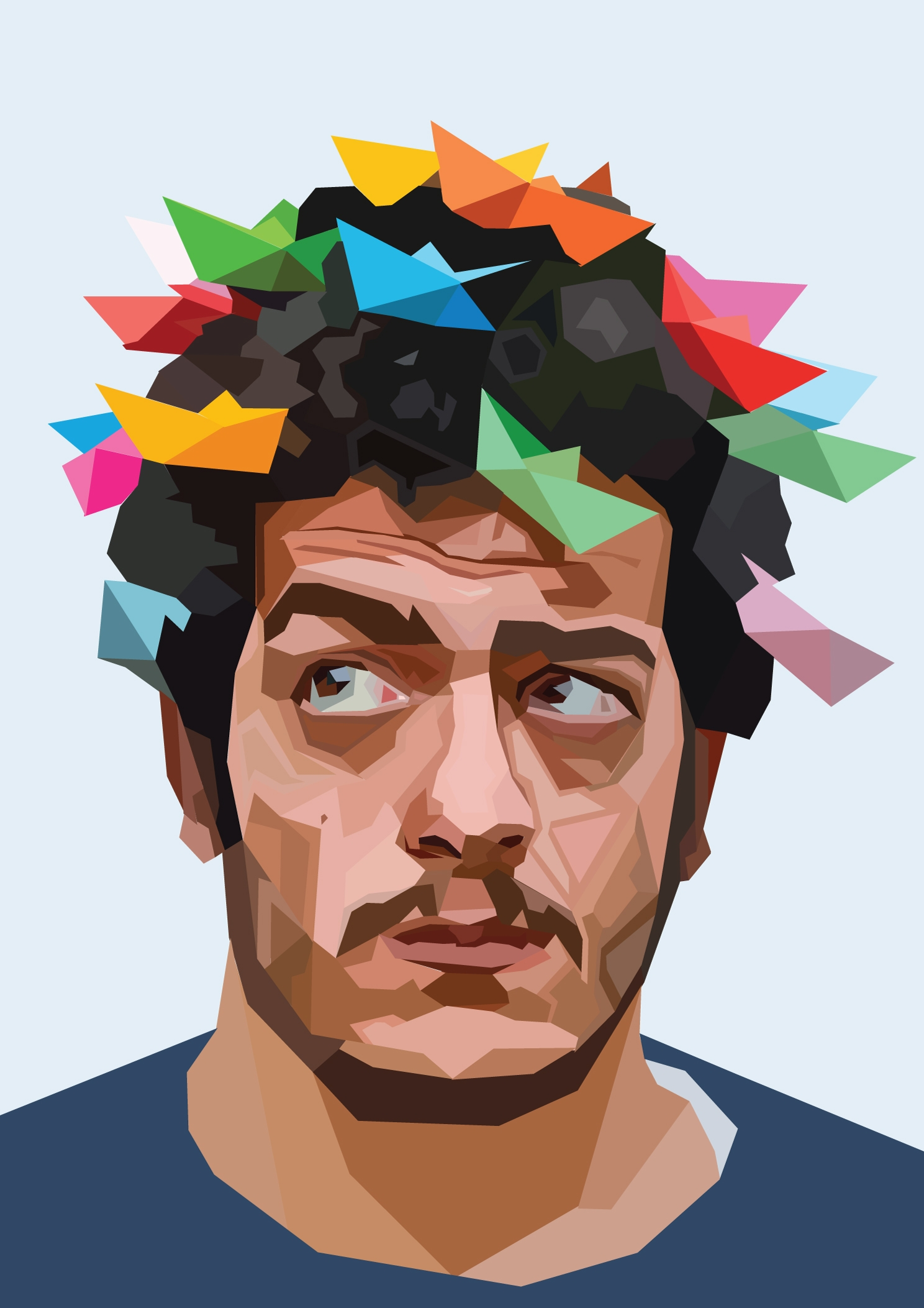 Ahmed El Abi geometric art  - illustration - mahmoudseddawy | ello