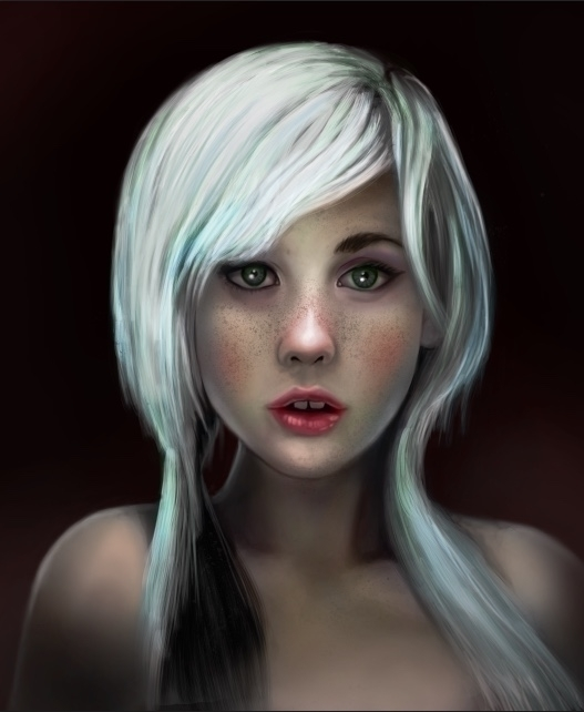 Girl White Hair- Incomplete Por - terenceabbott | ello