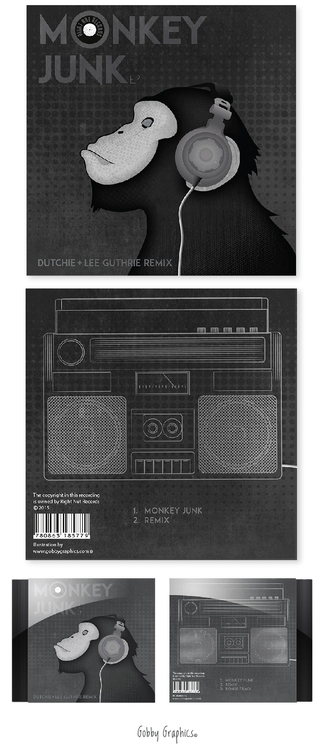 'Monkey Junk' EP cover design i - rachellucetteadams | ello