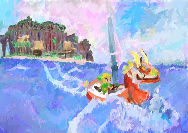 Digital painting inspired Wind  - rabbott-8438 | ello