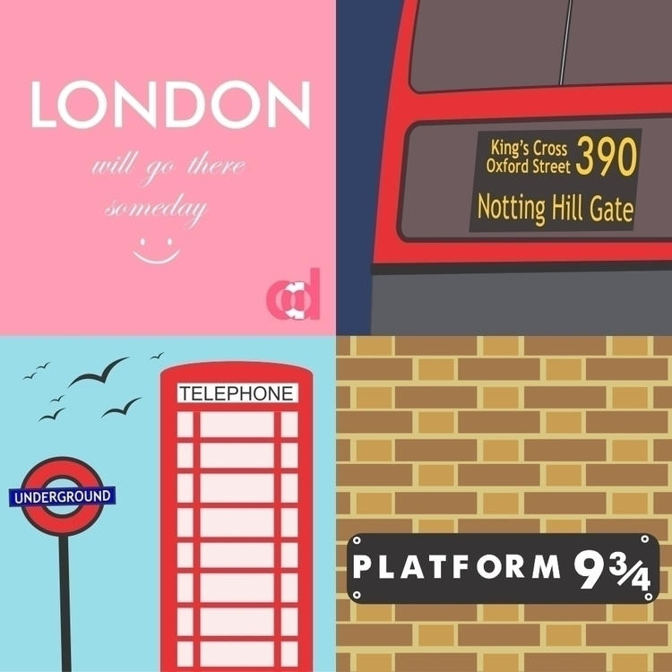 LONDON - illustration, design, digitalillustration - anantadianti | ello