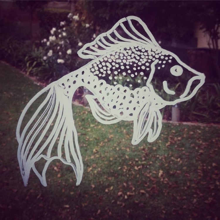Window doodle fish - illustration - byeblackbirdy | ello