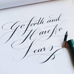 fear - pointedpen, calligraphy, lettering - aneelarashid | ello