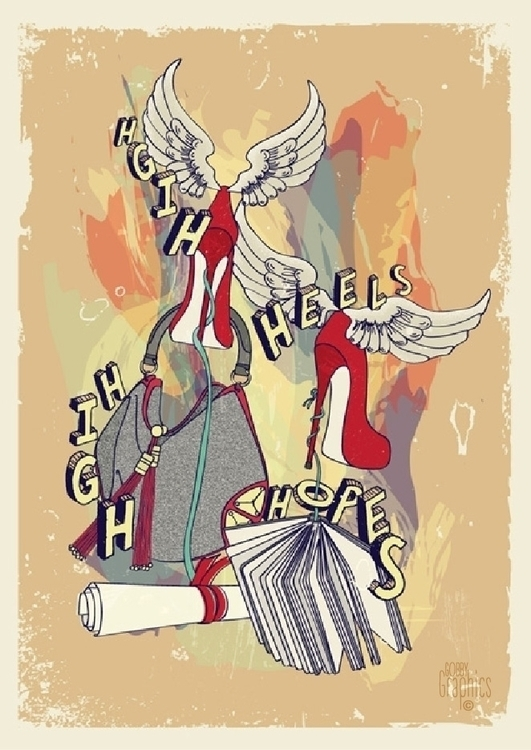 'High heels...High hopes' illus - rachellucetteadams | ello