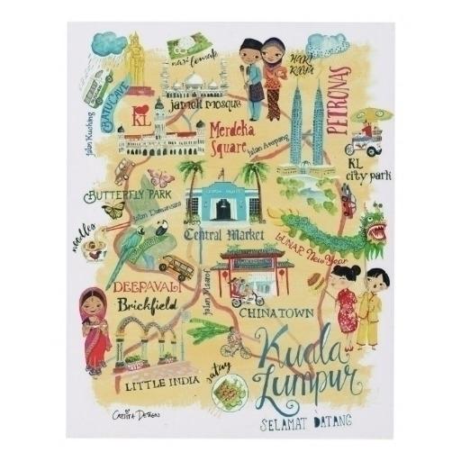 Illustrative map Kuala Lumpur c - cartitadesign | ello