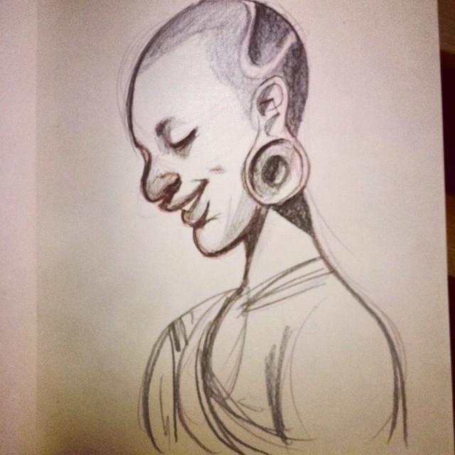 sketch, sketchbook, woman, tribe - artsypabster | ello