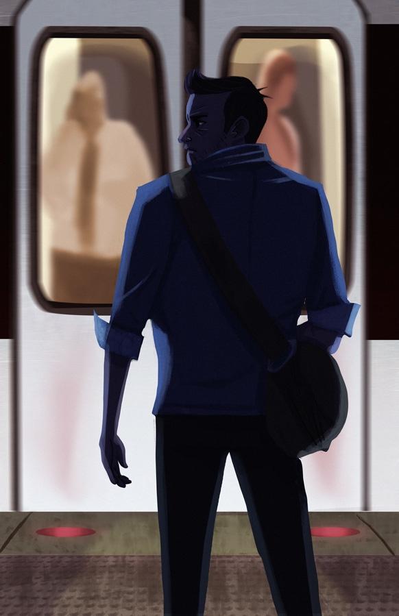 Metro - 2, art, illustration, metro - artsypabster | ello