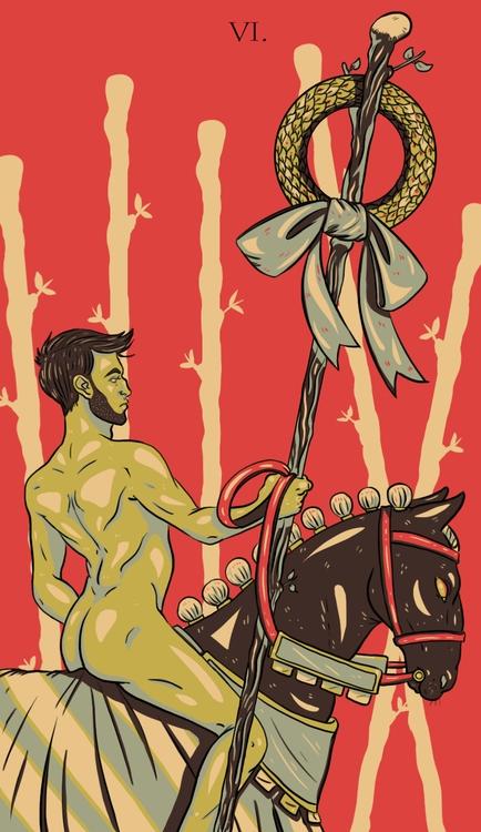 Wands - illustration, tarot - wingywonky-5811   ello