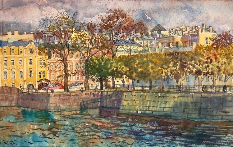 watercolor, watercolour, autumn - naktisart | ello