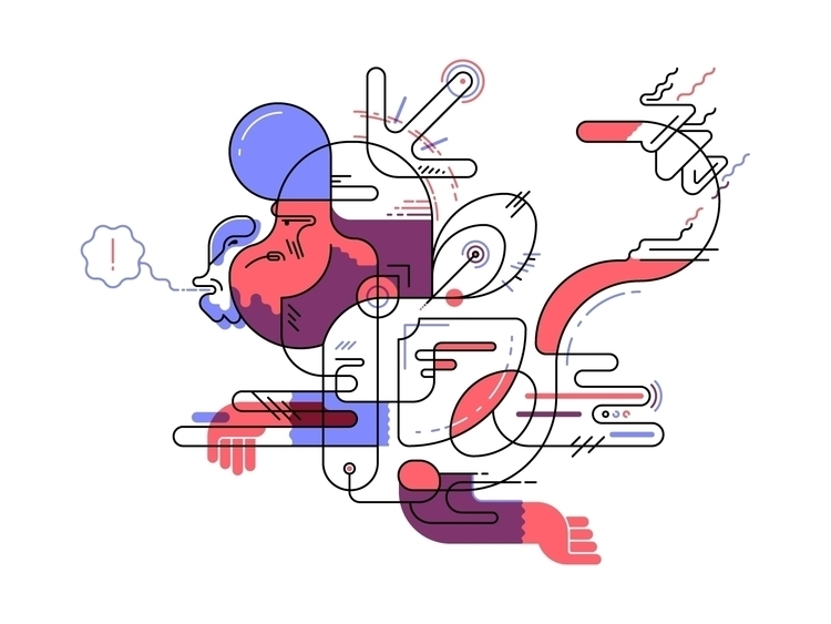 Pop-tech-ape - illustration, monkey - deividsaenz | ello