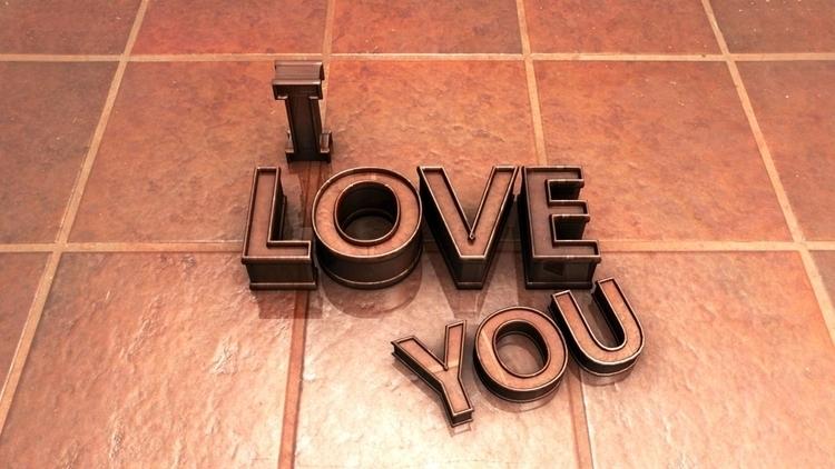 Love - conceptart, typography, 3d - aman_d_singh | ello