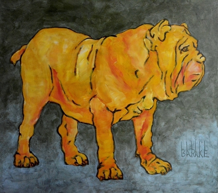 MASTINO ORANGE - painting, dogs - barakesculptor | ello