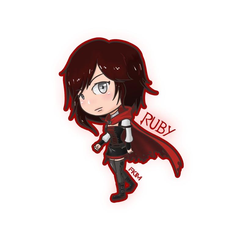 Chibi Ruby - illustration, painting - fkim90   ello