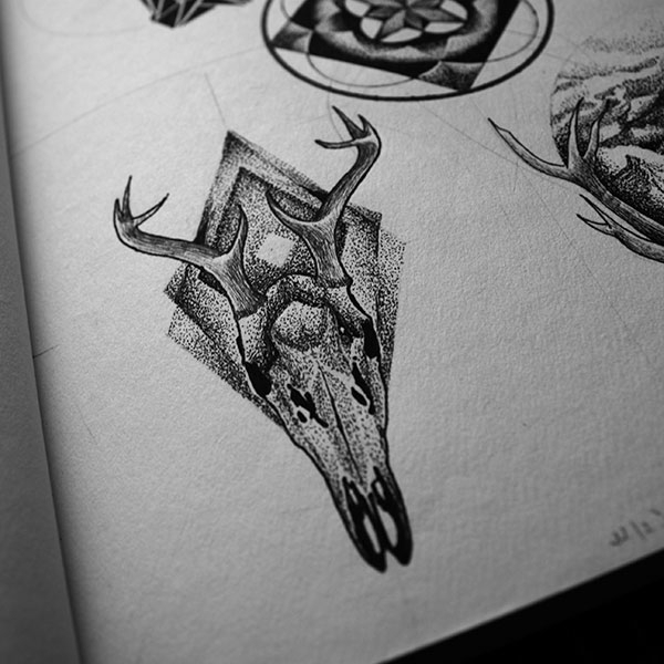 Horns - illustration, painting, drawing - karolina-4327 | ello