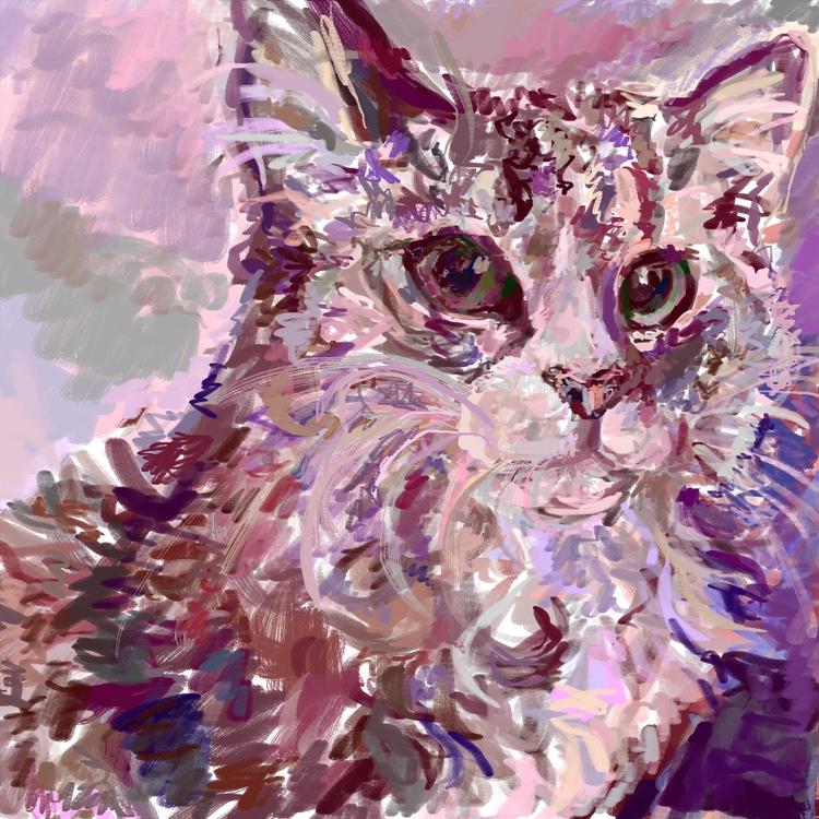 Digital cat painting 2015 - digitalart - rabbott-8438 | ello