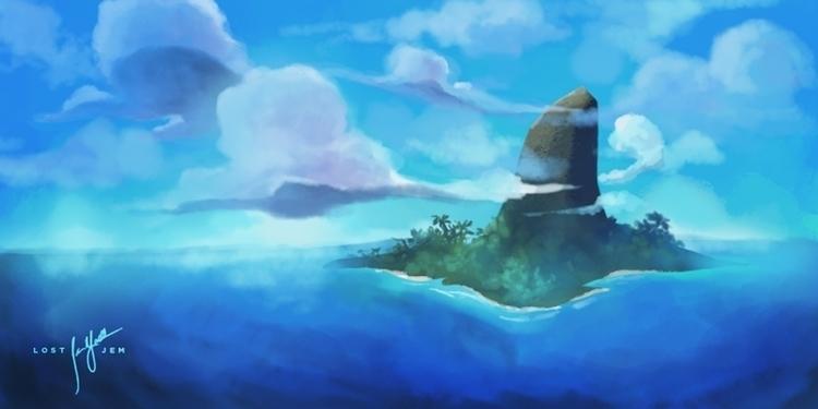 Mystic Island - landscape, conceptart - lostjem | ello