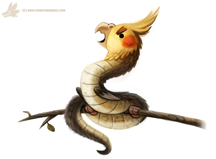 Daily Paint Cockatrice (OA - 991. - piperthibodeau | ello