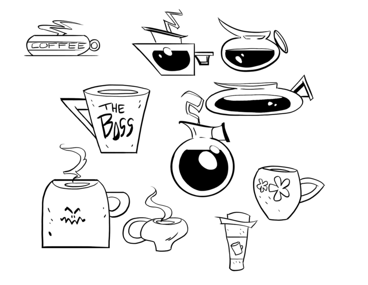 coffee, propdesign, cartooning - willterrell | ello