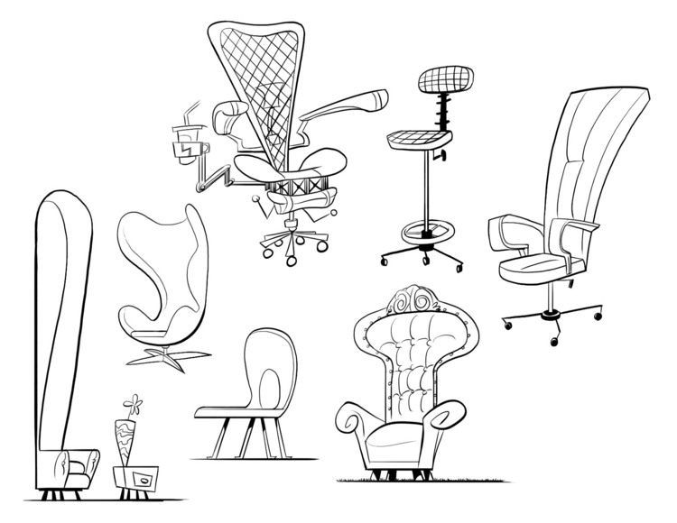 chairs, propdesign, nickelodeon - willterrell | ello