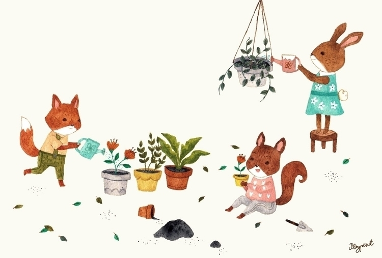 Plants - characterdesign, children'sillustration - ploypisut | ello
