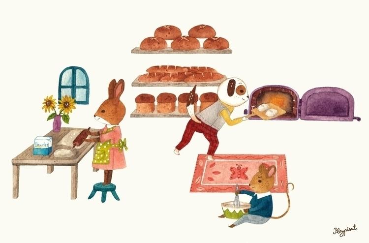 Bread baking - illustration, children'sillustration - ploypisut | ello