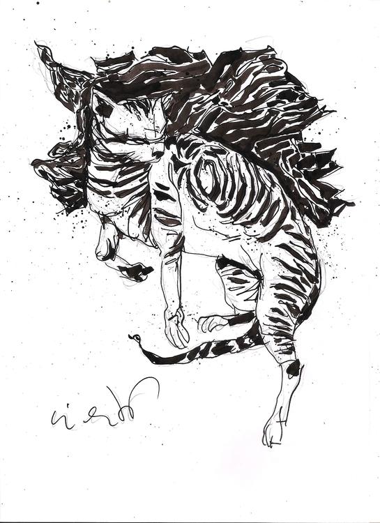 Agata durmiendo - illustration, drawing - luisliendo | ello
