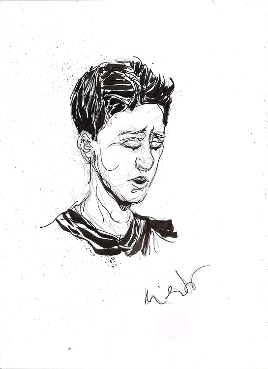 Cabeza - penink, portrait, drawing - luisliendo | ello