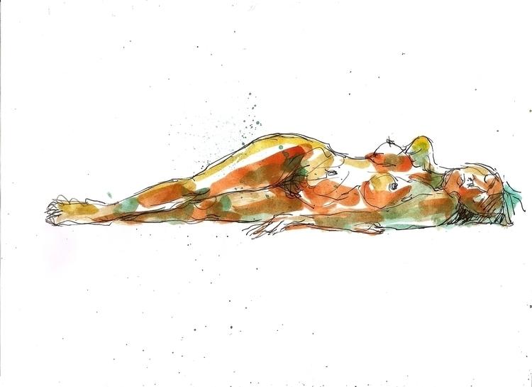 Nude 1 - colorink, femalenude, illustration - luisliendo | ello