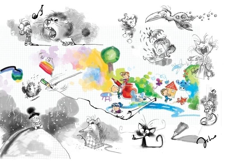 Hyper activity - illustration, drawing - tiho-3213   ello