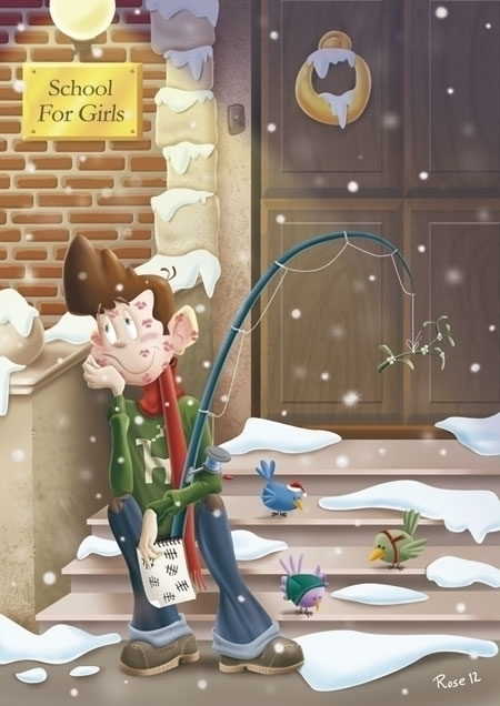 Xmas Card - xmas,christmas,card,navidad - rose-1168   ello