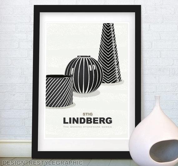 Stig Lindberg stoneware print - illustration - yaviki | ello
