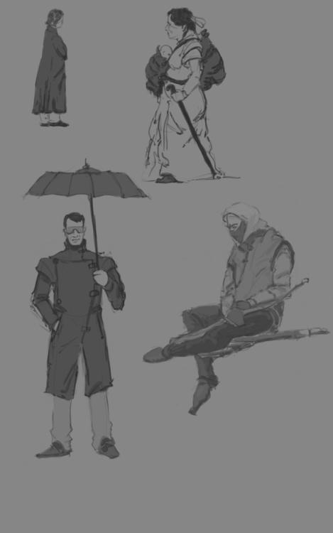 Random people sketch - 2dart - ghostb | ello