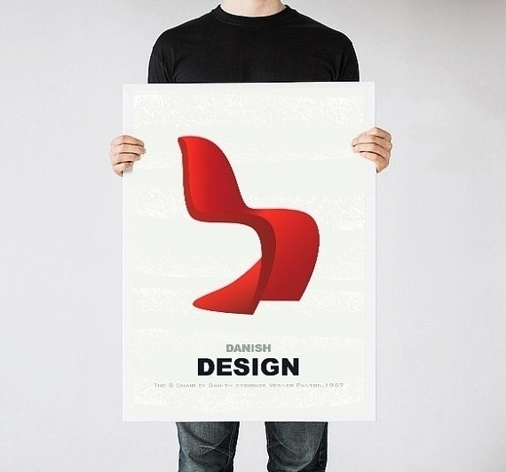 Verner Panton print - illustration - yaviki | ello
