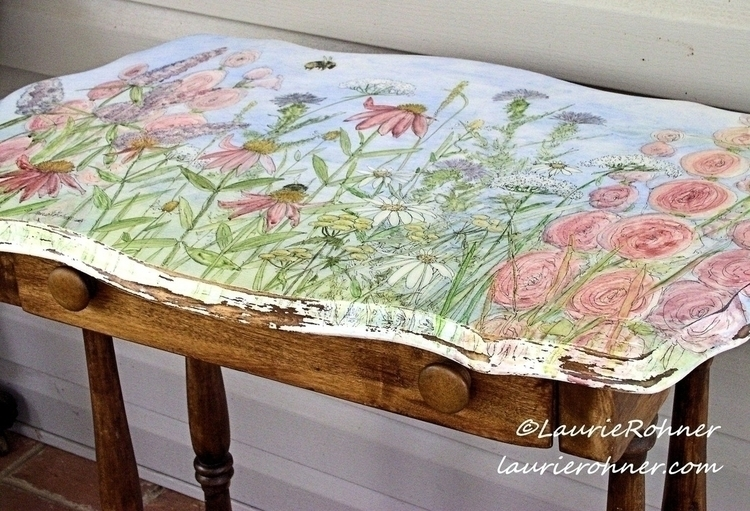 Watercolor Hand Painted Cottage - whitefieldstudio | ello