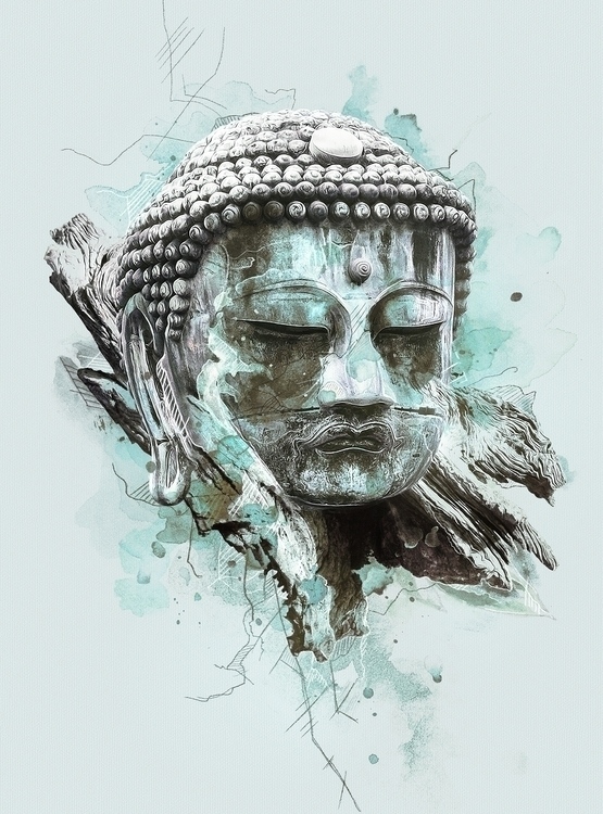 Buddha  - illustration#digitalart#design#characterdesign#photoshop#painting#davisvrworks#drawing#conceptart - kevinroodhorst | ello