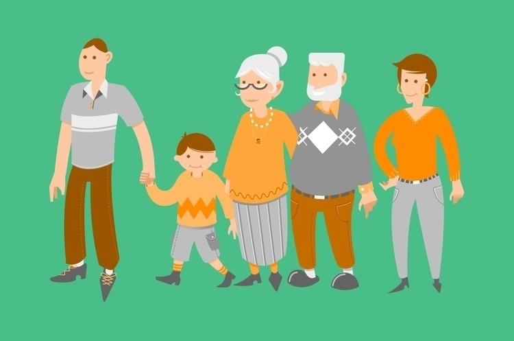 Family matters - illustration, characterdesign - karstenlampe | ello