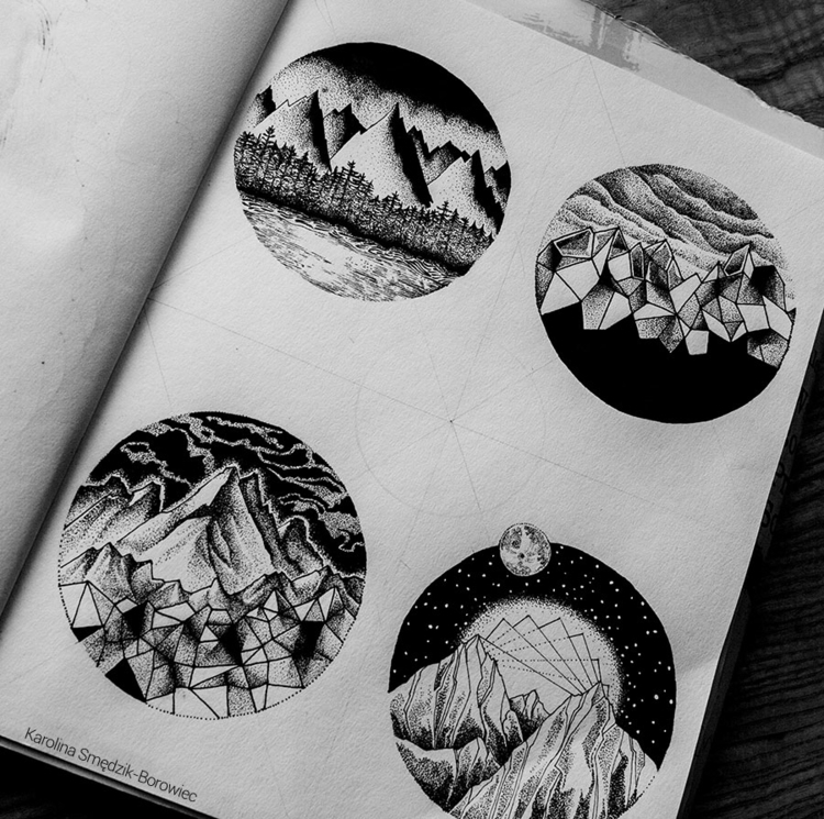 Mountain - illustration, drawing - karolina-4327 | ello