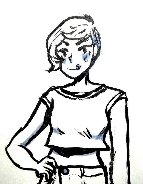 Rocky Road bust - girl, illustration - mmmmocha | ello