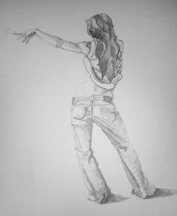 Girl sketch - study, 2dart, girl - ghostb | ello