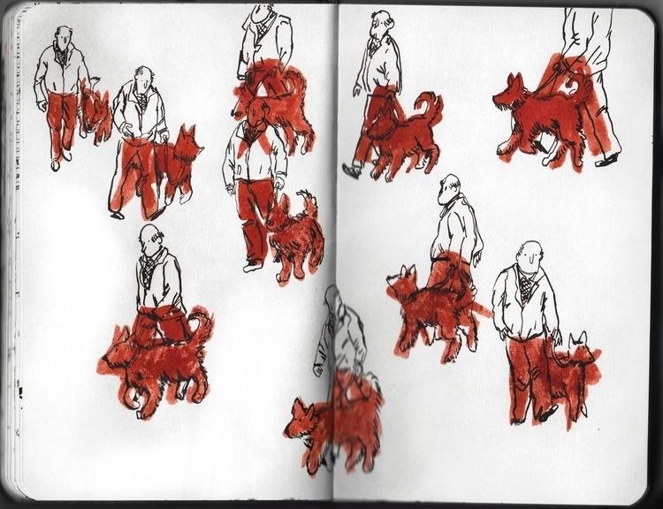 sketch - illustration, pencil, ink - sarahherlant | ello