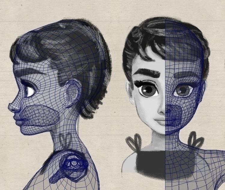 Sabrina/audrey 3D modeling - 3d - sketchian-5498 | ello