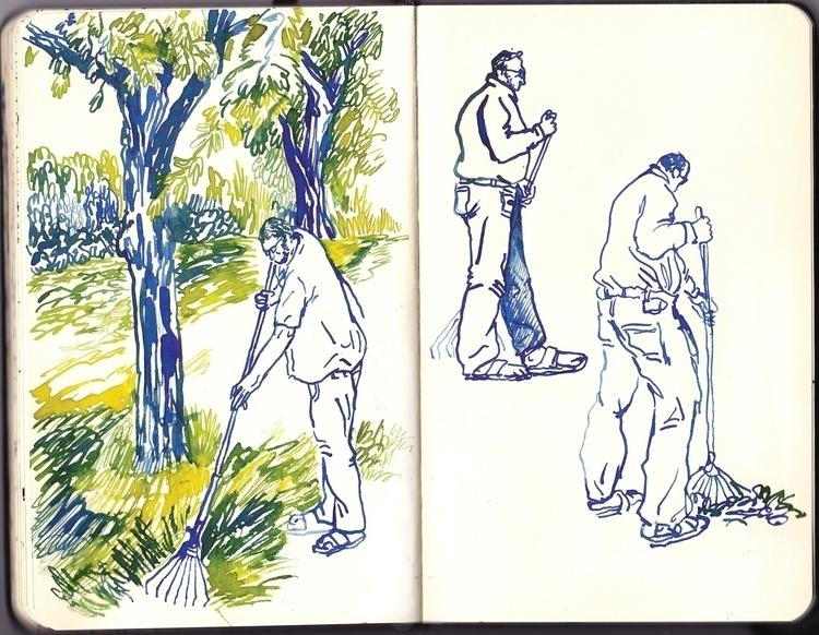 sketch - illustration, pencil, color - sarahherlant | ello