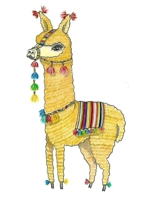 Alpaca - watercolour, alpaca, illustration - jolienkempen | ello