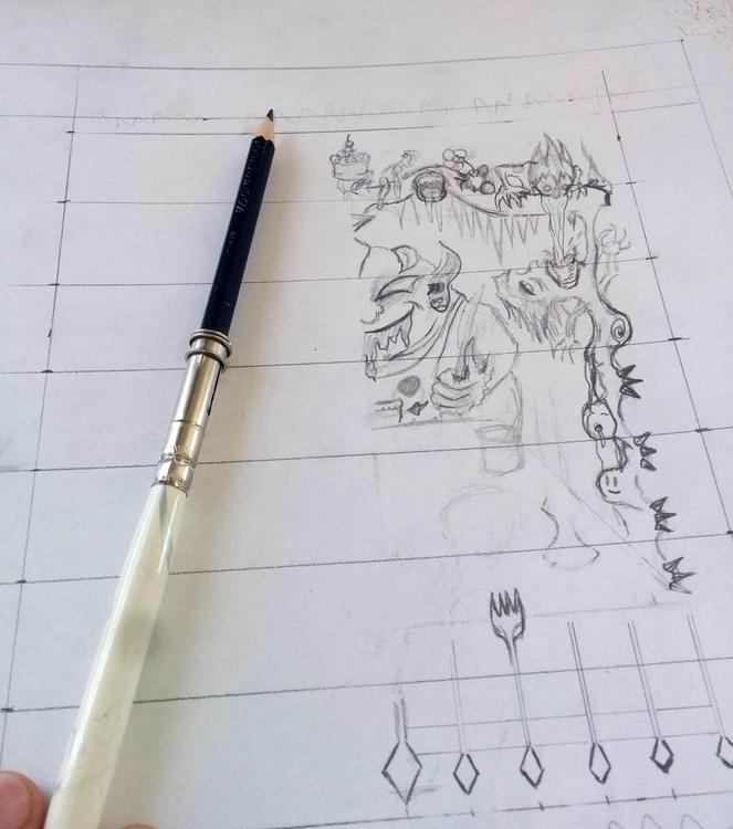 Gluttony Composition Sketch - rob_e_don | ello